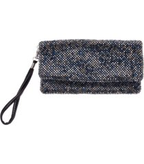 la regale mix crystal mesh fold over wristlet
