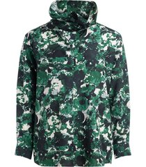 kenzo aquarelle green shirt