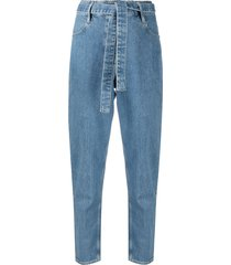 3x1 belted tapered jeans - blue