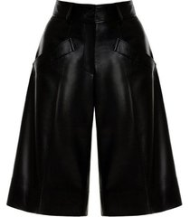 faux leather bermuda shorts
