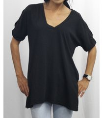 coin 1804 womens elbow sleeve v-neck dolman t-shirt