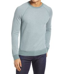 men's vince regular fit bird's eye stitch wool & cashmere sweater, size x-large - green