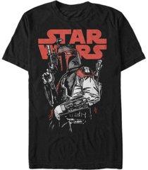 star wars men's classic boba fett bounty hunter short sleeve t-shirt