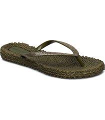 flipflop with glitter shoes summer shoes flip flops grön ilse jacobsen