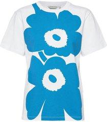 lauha unikko placement t-shirt t-shirts & tops short-sleeved wit marimekko