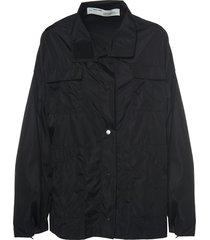 black nylon track jacket