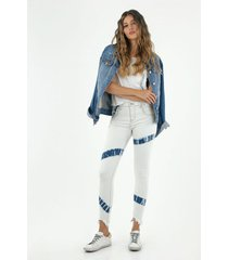 jean para mujer topmark, jeans poppy tiro medio plano cintura con pretina