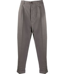 ami oversized drop-crotch trousers - grey