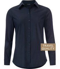 dayz becca blouse donker in travel stof blauw