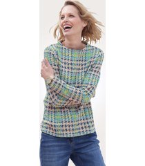 sweatshirt mona ecru::turquoise::multicolor