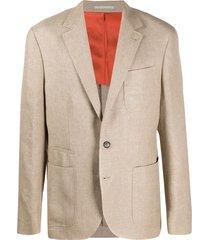 brunello cucinelli single-breasted multi-pocket blazer - neutrals