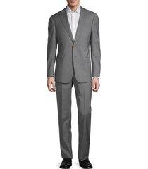 armani collezioni men's virgin wool suit - grey - size 54 (44) r