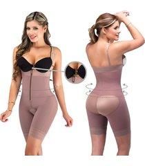 fajas para mujer body short contorno fajas lady - cocoa