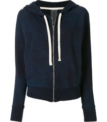 electric & rose ryder zipped hoodie - blue