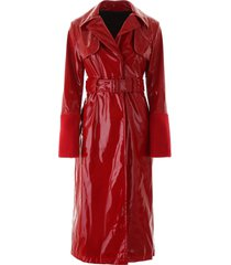 kirin vinyl trench coat