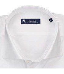 sleeve7 overhemd birdseye wit