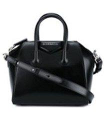 givenchy bolsa tiracolo de couro modelo 'antigona' mini - preto