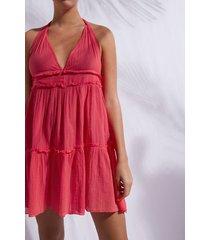 calzedonia short cloth dress woman pink size tu
