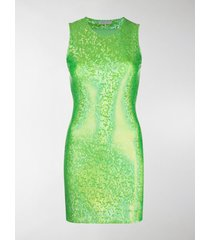 saks potts metallic-tone sleeveless mini dress