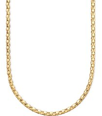 14k gold diamond-cut popcorn necklace (1-5/8mm)
