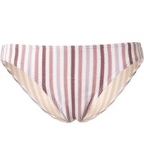 peony striped bikini bottoms - purple