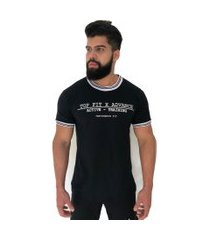 camiseta advance clothing college deluxe preta