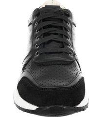 zapato casual jc perforado negro pierre d'agostiny