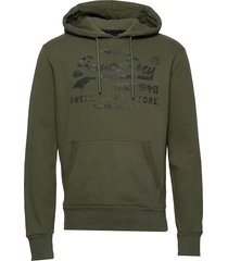 vl shirt shop bonded hood br hoodie trui groen superdry