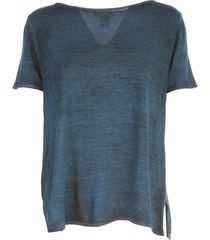 avant toi round neck micromodal t-shirt with slits