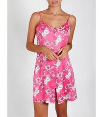 pyjama's / nachthemden admas pink flowers fuchsia nachtpon