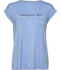 embrace ss top t-shirts & tops short-sleeved blå soft rebels
