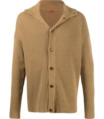 barena long-sleeve fitted cardigan - brown