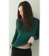 longsleeve basic green