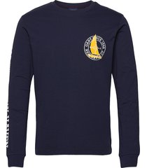 d1. nautical ls t-shirt t-shirts long-sleeved blauw gant