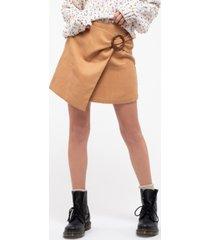 blu pepper corduroy wrap skirt