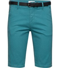 aop chino shorts w. belt shorts chinos shorts blå lindbergh