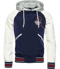 superdry men's hooded collegiate bomber jacket