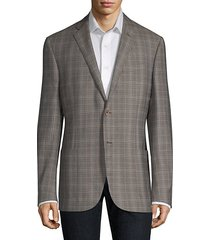 washed plaid wool jacket