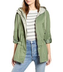 women's sam edelman cinch waist jacket, size x-small - green