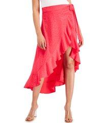 bar iii ruffled wrap skirt, created for macy's
