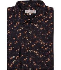 camisa dudalina manga longa tricoline estampada liberty masculina (estampado, 6)
