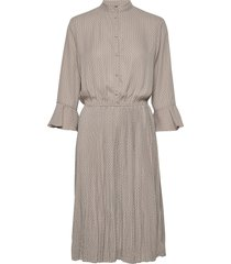 carrie dress recycled knälång klänning grå nü denmark