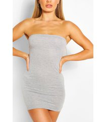 bandeau jersey bodycon dress, grey marl