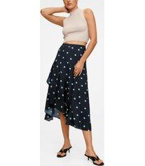mango women's polka dots midi skirt