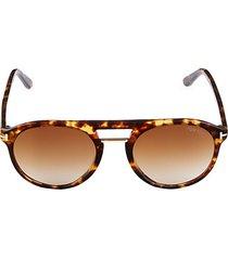 54mm browline round sunglasses