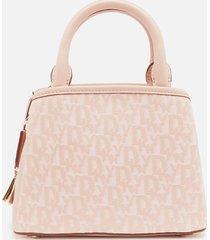 dkny women's paige small logo satchel - cashmere