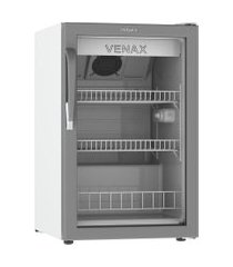 expositora de bebidas vv100 branco/cinza 220v porta de vidro venax