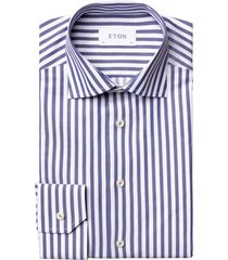 eton shirt contemporary fit blauw wit gestreept
