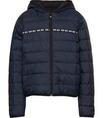 puffer jacket gevoerd jack blauw boss