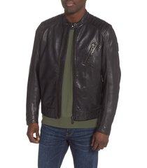 men's belstaff v racer leather jacket, size 36 us / 46 eu - black